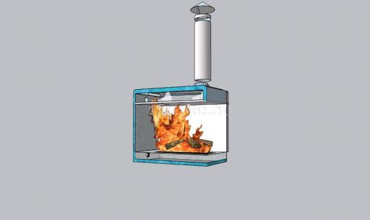 Водогрейная печь для фурако (купели, бассейна) Уса