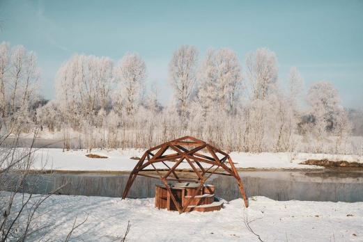 Проект деревянного шатра  (квадрокупола)